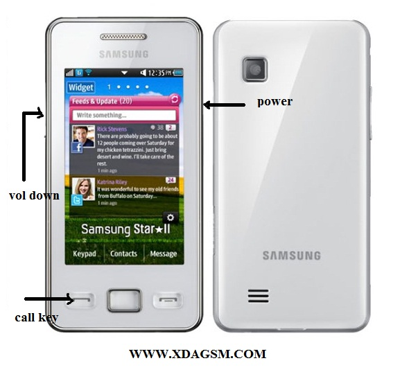Flashing Samsung S5263 (STAR II) without box via USB - XdaGsm